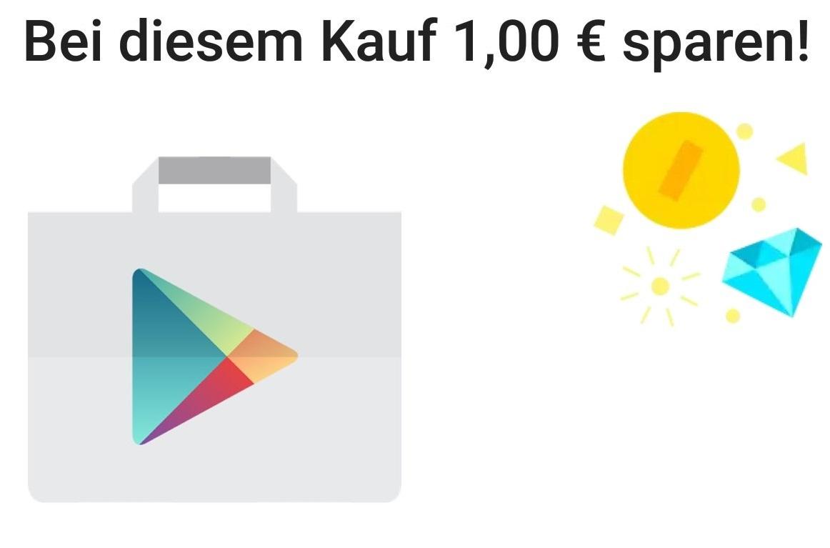 [Google Play] 1 € Rabatt auf In-App-Kauf ab 4€