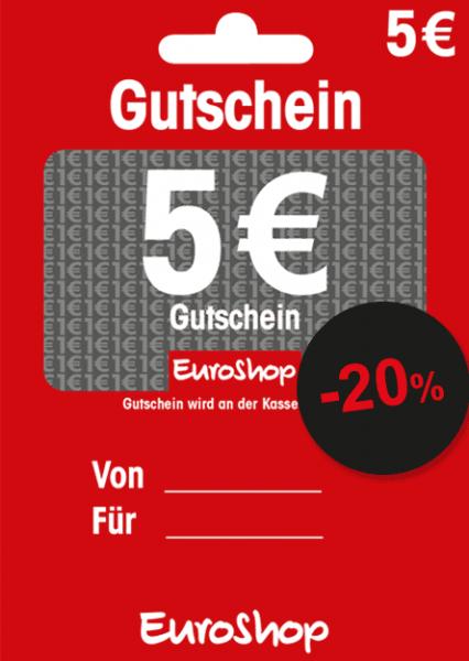 Gutscheine EuroShop mit 20% Rabatt - Online bestellen, offline einlösen