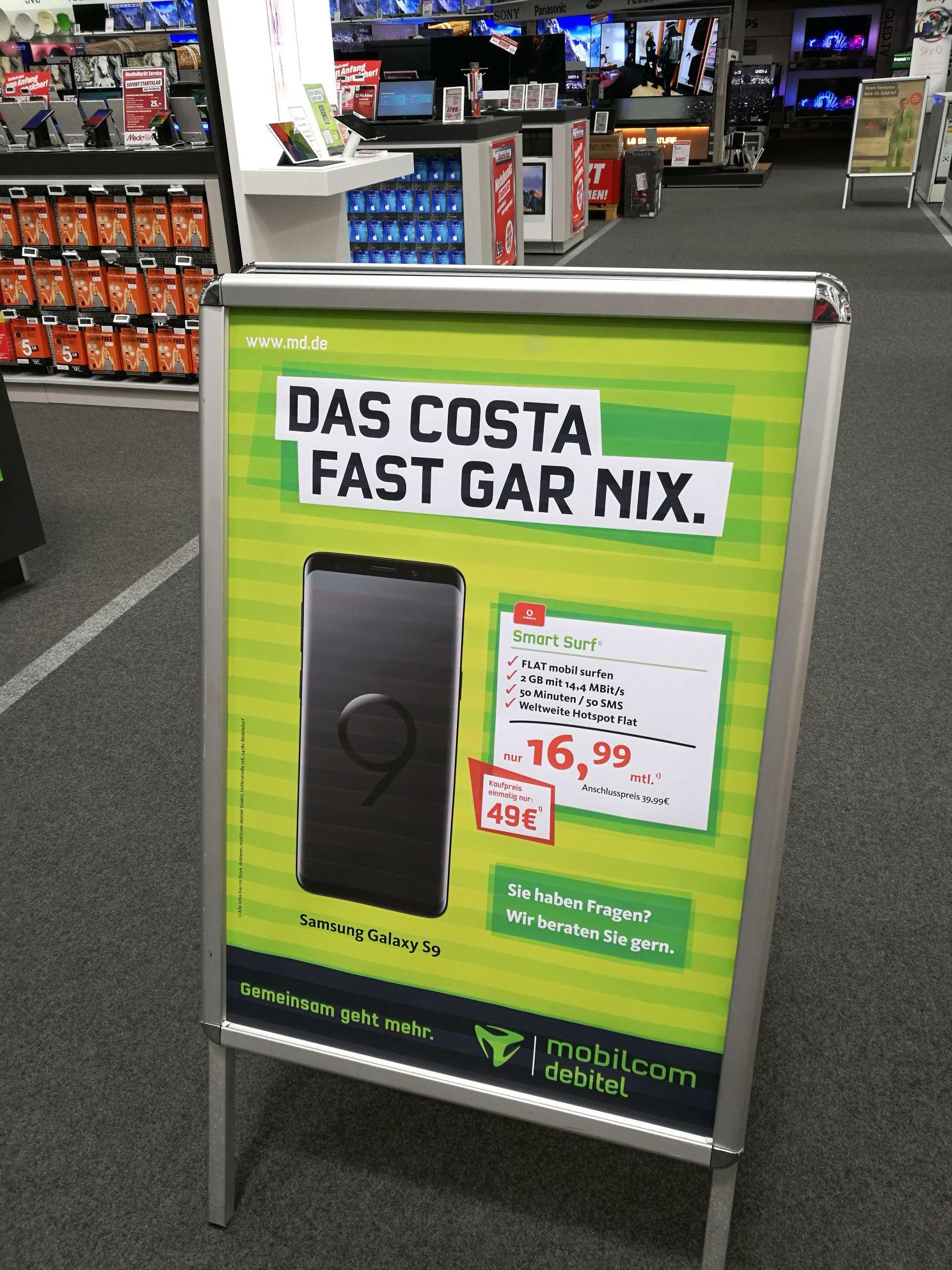 [Lokal: MM Velbert]Samsung S9 für 496,75