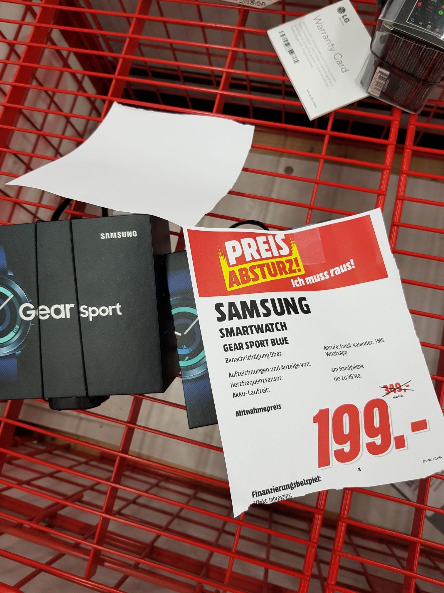 [Lokal: Wiesbaden]Samsung Smartwatch Gear Sport in blau