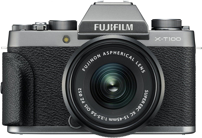 Fujifilm X-T100 Systemkamera inkl. XC15-45F3,5-5,6 Objektiv - Silber
