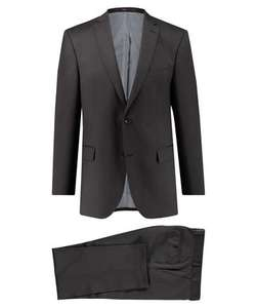 "Carl Gross Herren Business Anzug ""Shane"" Modern Fit, 100% Wolle, braun"