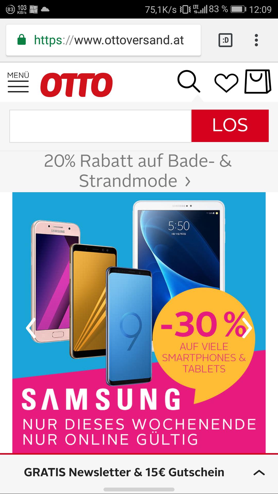 [Österreich] Ottoversand 30% auf Samsunggeräte