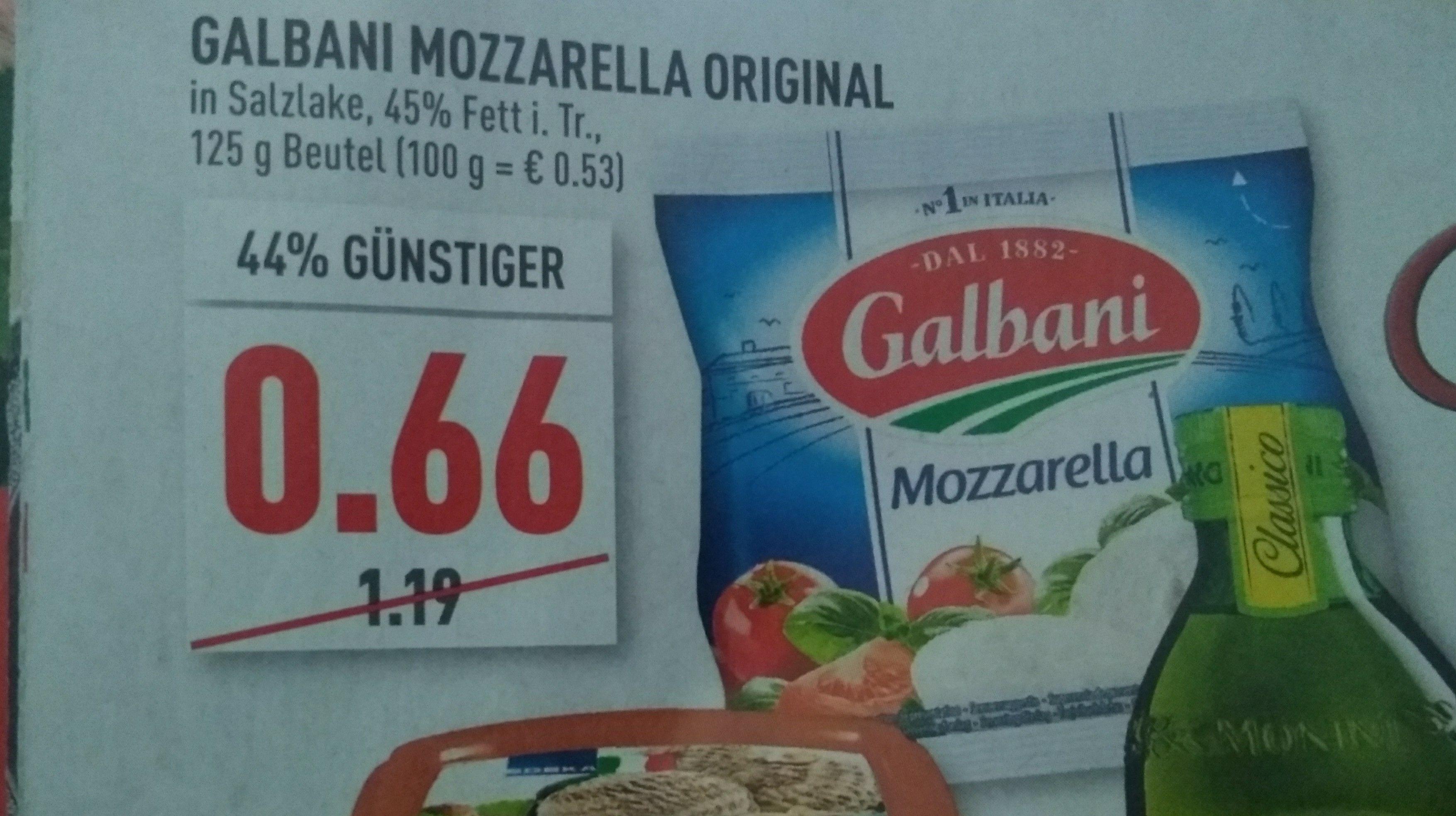[Ab 06.08] [Marktkauf Rhein Ruhr/Couponplatz] Galbani Mozarella zu je 16 Cent beim Gleichzeitigen Kauf von 2 Stück