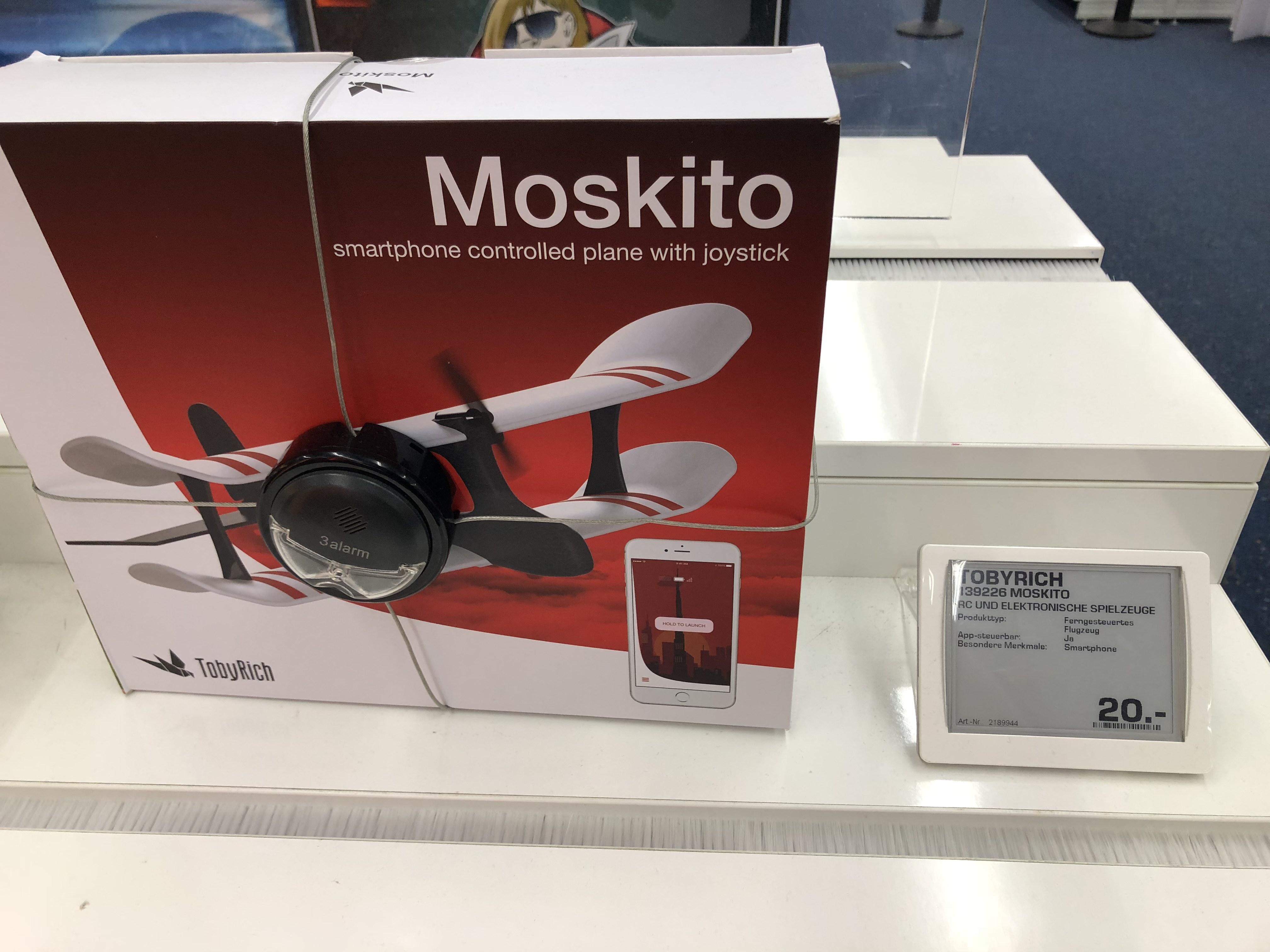 (LOKAL Loop5 Saturn Weiterstadt) TobyRich Moskito - App-gesteuertes Modellflugzeug