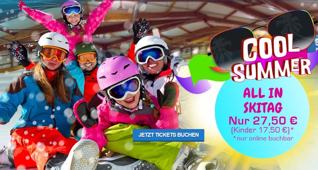 Abkühlung gefällig? Tagesticket Ski Alpincenter Bottrop mit Ausrüstung, Buffet und Getränke