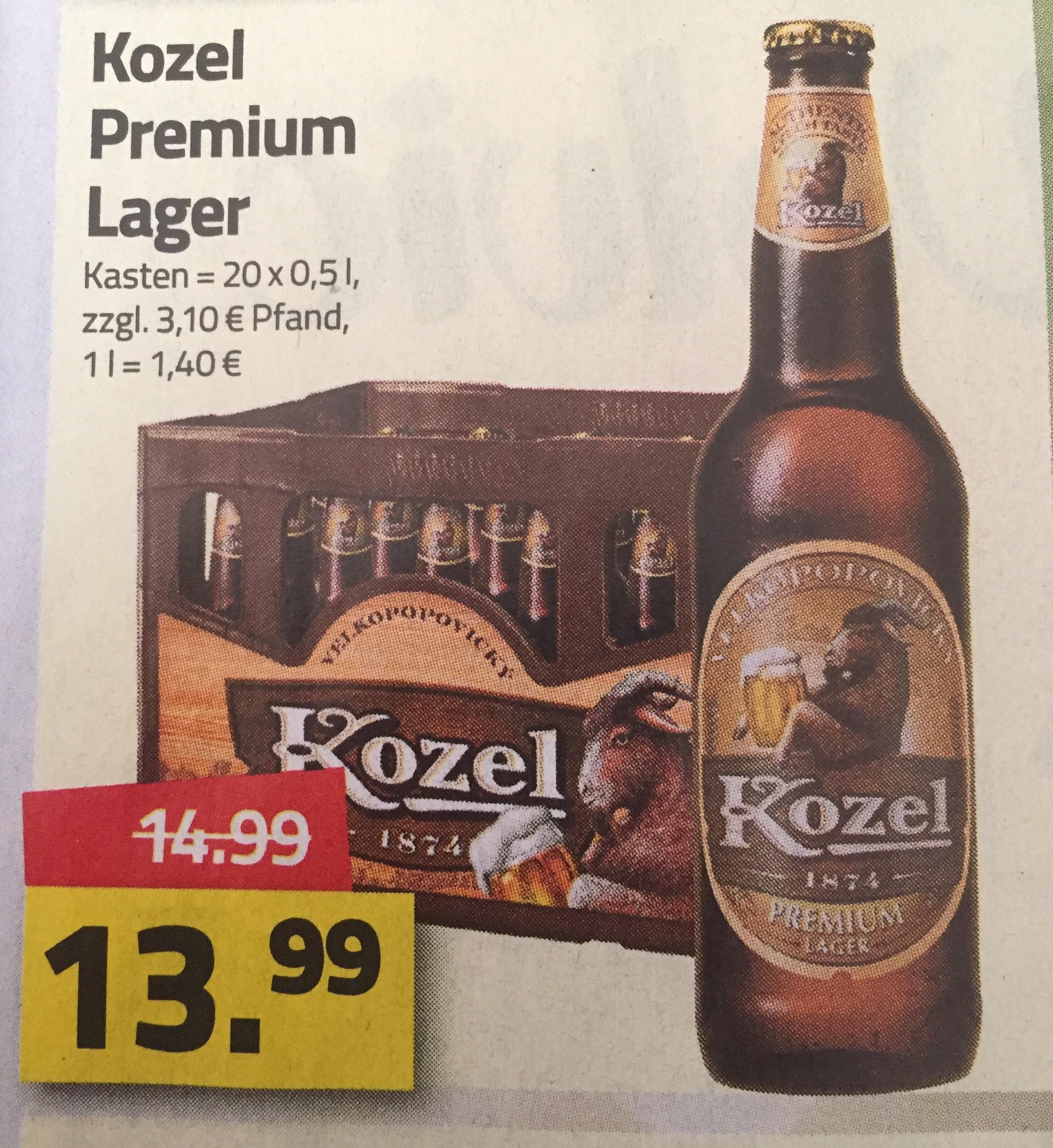 [Logo] Kozel Premium Lager Tschechisches Bier