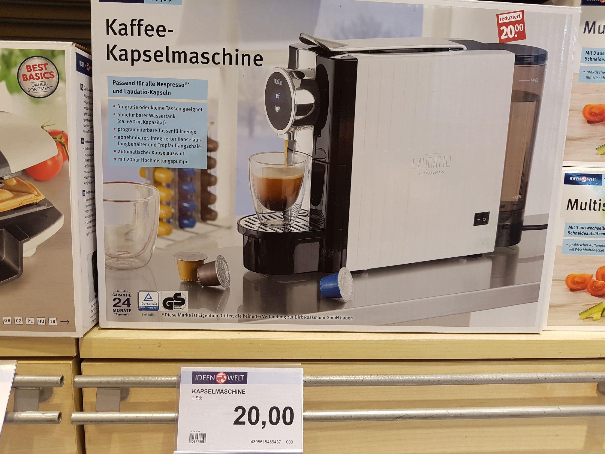 [Rossmann Jena-Zentrum] Kaffee-Kapselmaschine von 70 auf 20€ reduziert