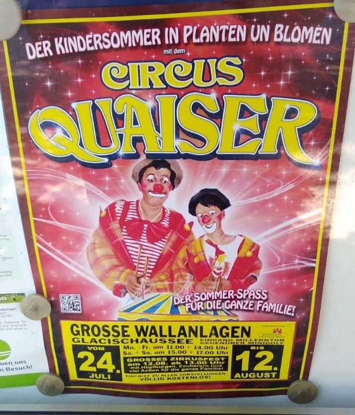 [Lokal Hamburg] Eintritt frei in den Circus Quaiser in Planten & Blomen bis 15.08.