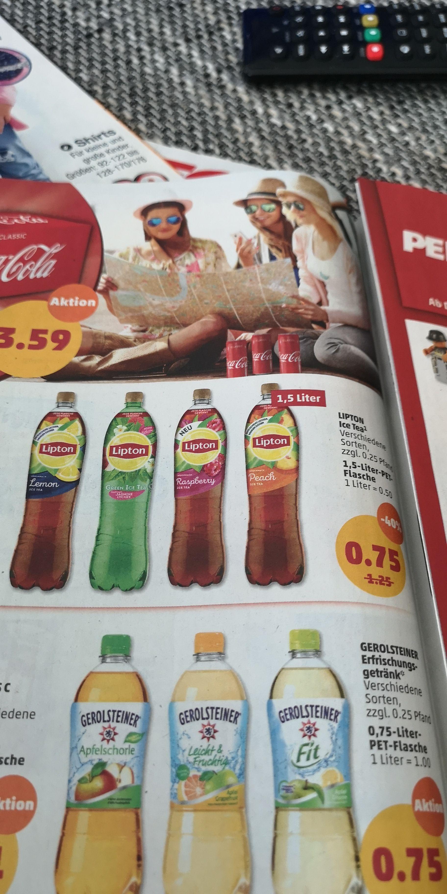 Penny 6.8-11.8 Lipton Ice Tea, verschiedene Sorten