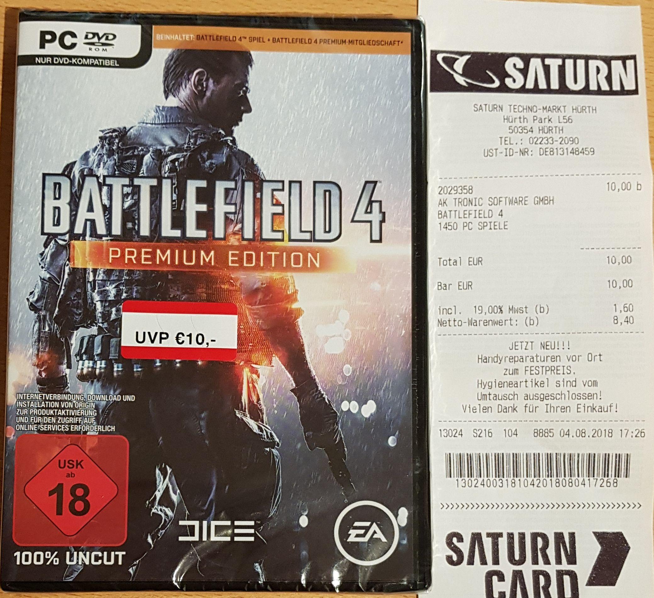 BATTLEFIELD 4 Premium Edition - Saturn Hürth Lokal