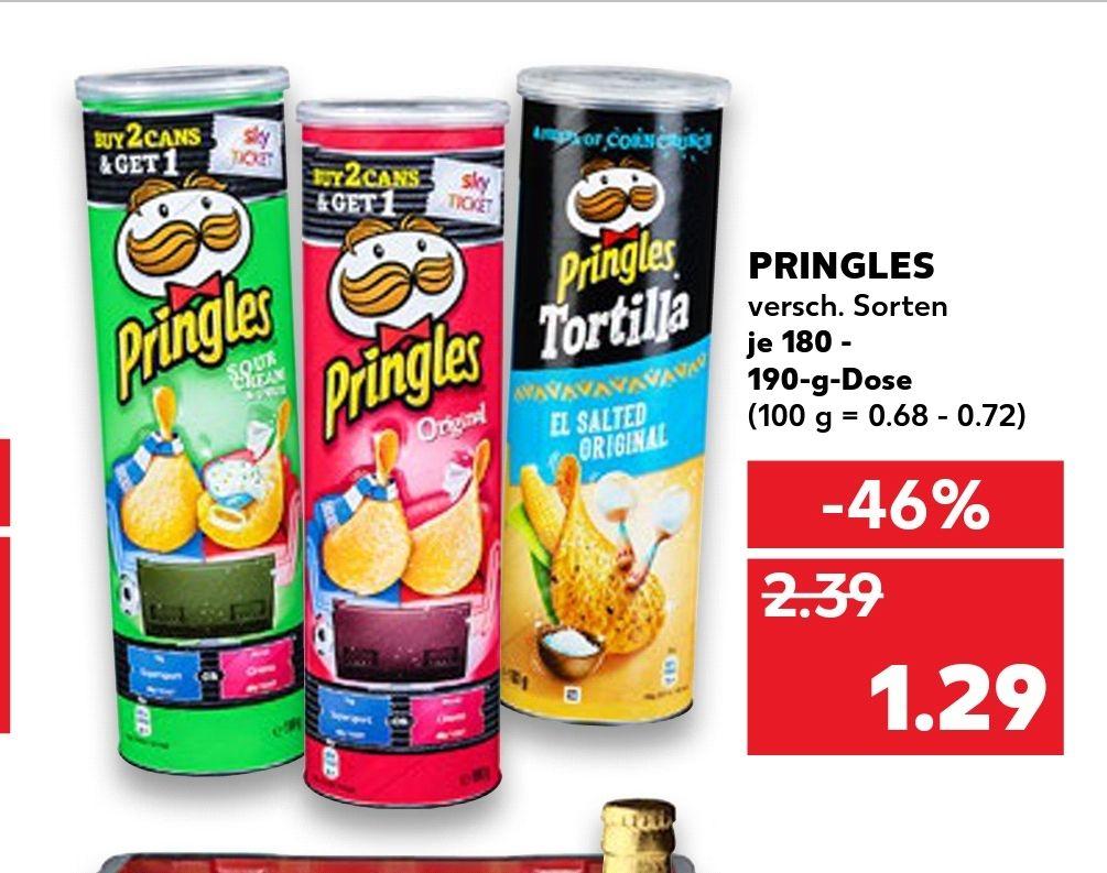 Ab 09.08 bei Kaufland Pringles 190g für 1.29€