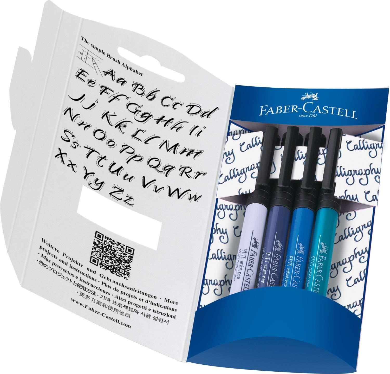 [Müller Sonntagsknüller] FABER CASTELL Handlettering Pinselstift 4er-Set, Kalligraphie Set
