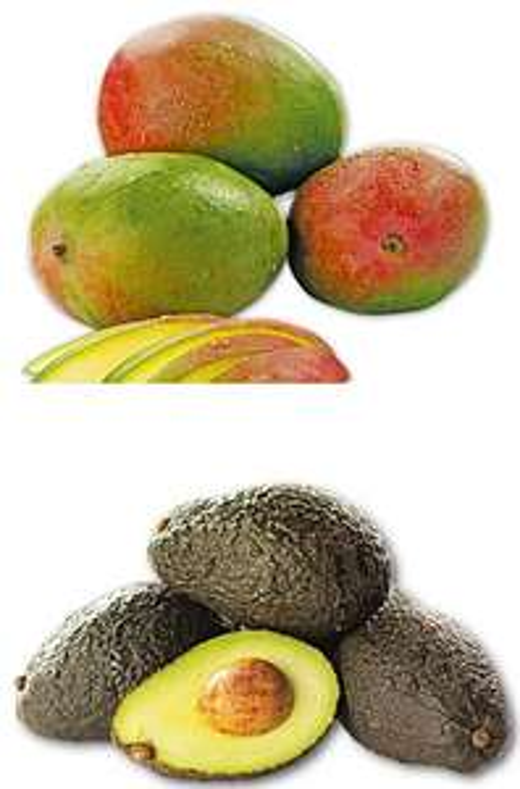 [Penny] Angereifte Avocados für 0,66 Euro und faserarme Mangos für 0,69 Euro pro Stück