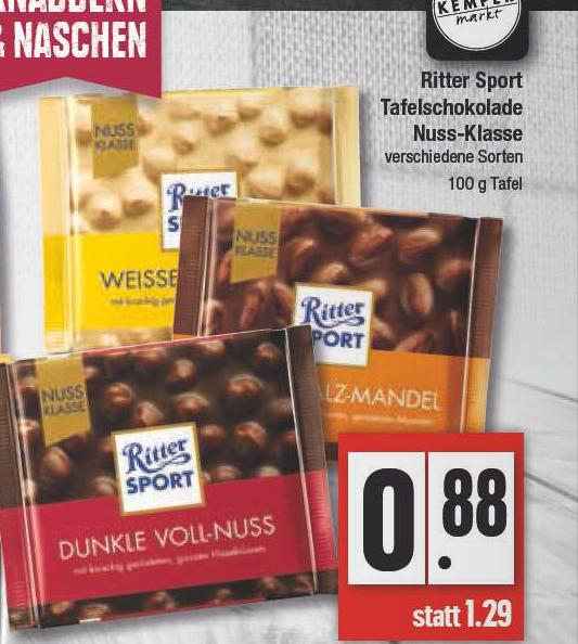 [Edeka /Marktkauf Rhein-Ruhr & Hit] Ritter-Sport Nussklasse