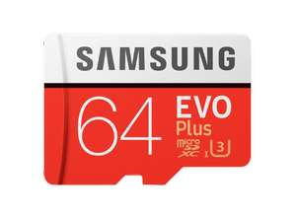 SAMSUNG Evo Plus 64 GB, Micro-SDXC, Speicherkarte, 100 MB/s