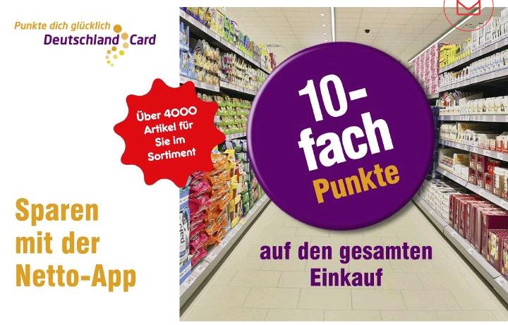 [Netto MD] 10-fach Deutschlandcard-Punkte vom 06.08. bis 11.08. mit der Netto-App