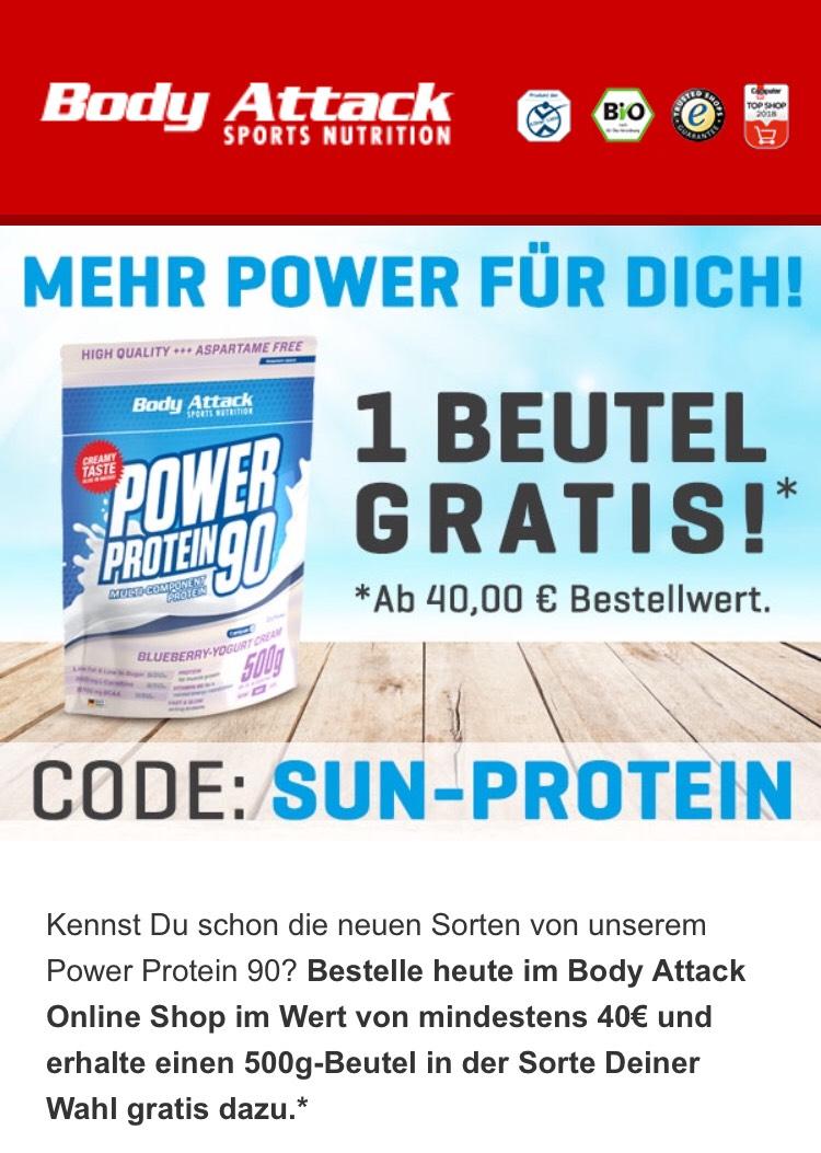 500G Protein Pulver von BodyAttack ab 40€