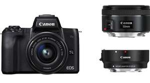 Canon EOS M50 Kit 15-45mm + 50mm 1.8 + EF Adapter