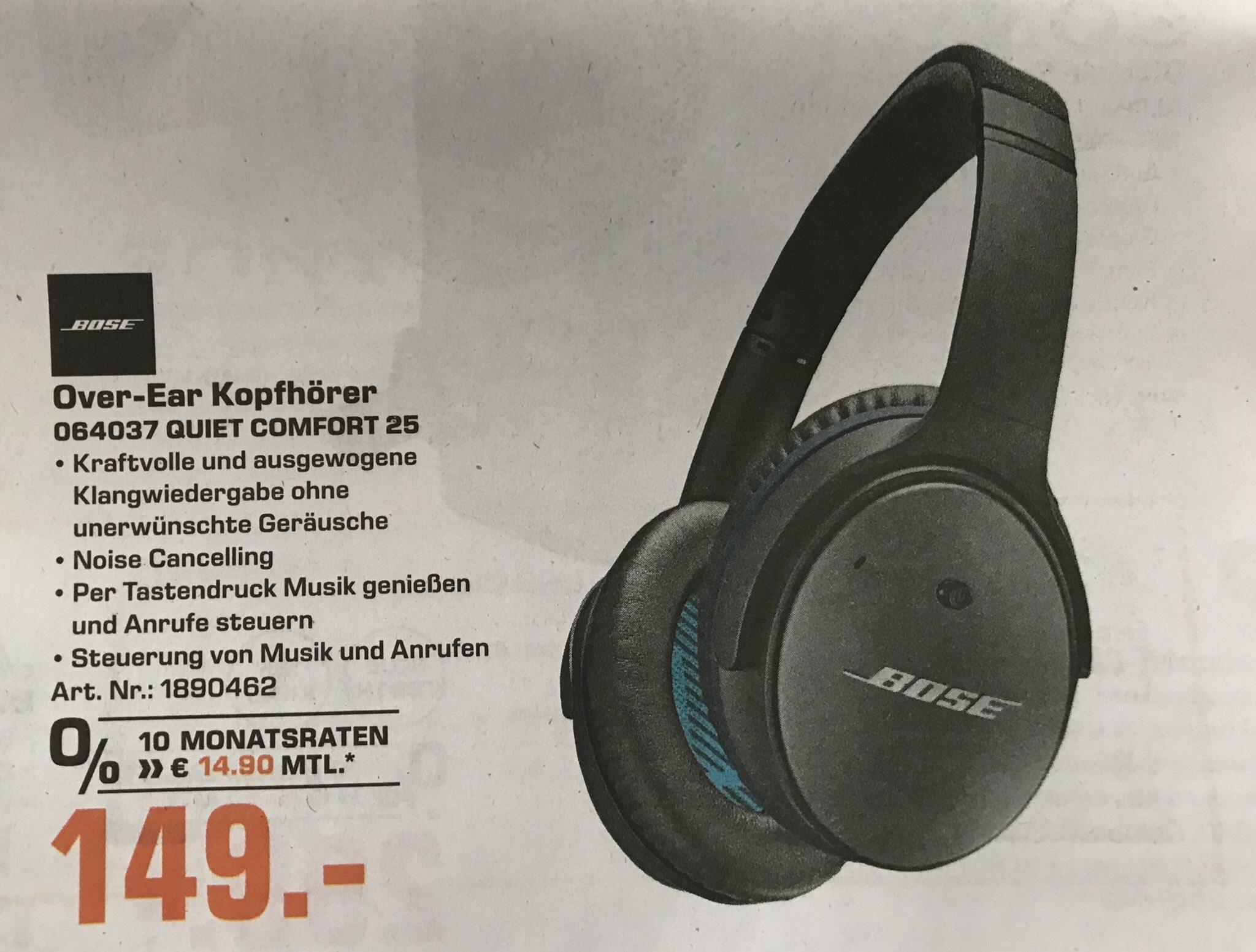 [Lokal Saturn Hagen/Iserlohn] Bose Quiet Comfort 25 für 149€