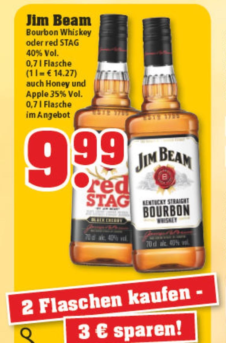 [Trinkgut] 2 Flaschen Jim Beam (0,7l) für 16,98 Euro -> pro Flasche 8,49 Euro