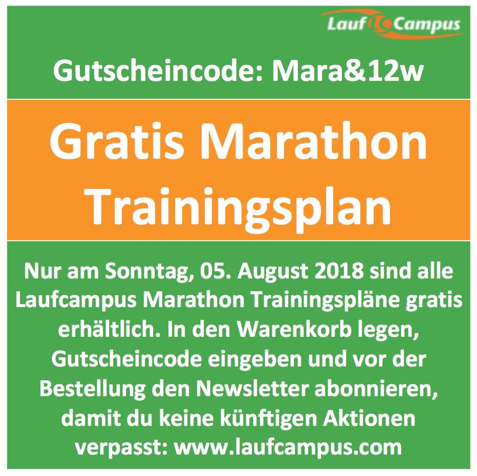 kostenlose Marathon Trainingspläne