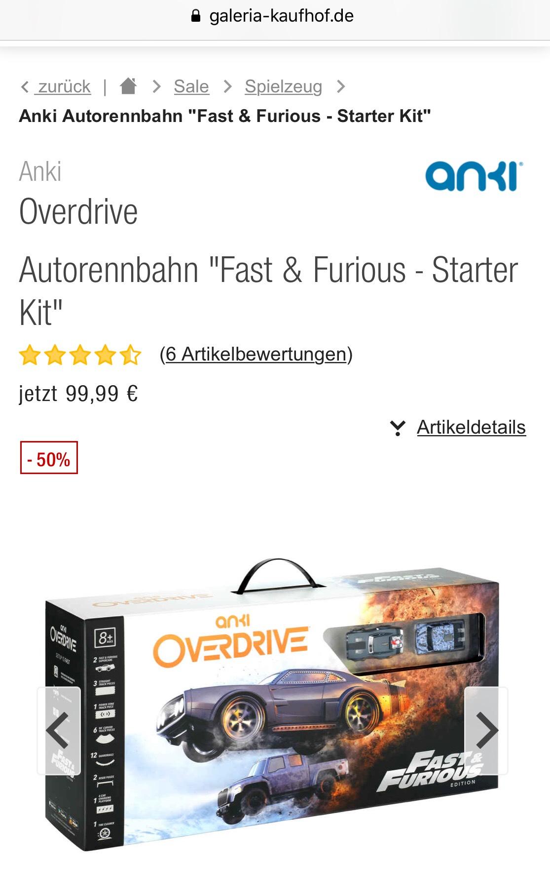 "(Galeria Kaufhof) Anki Overdrive ""Fast & Furious - Starter Kit"""