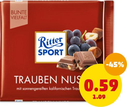 (Penny) Ritter Sport 100g bunte Vielfalt für nur 59 Cent