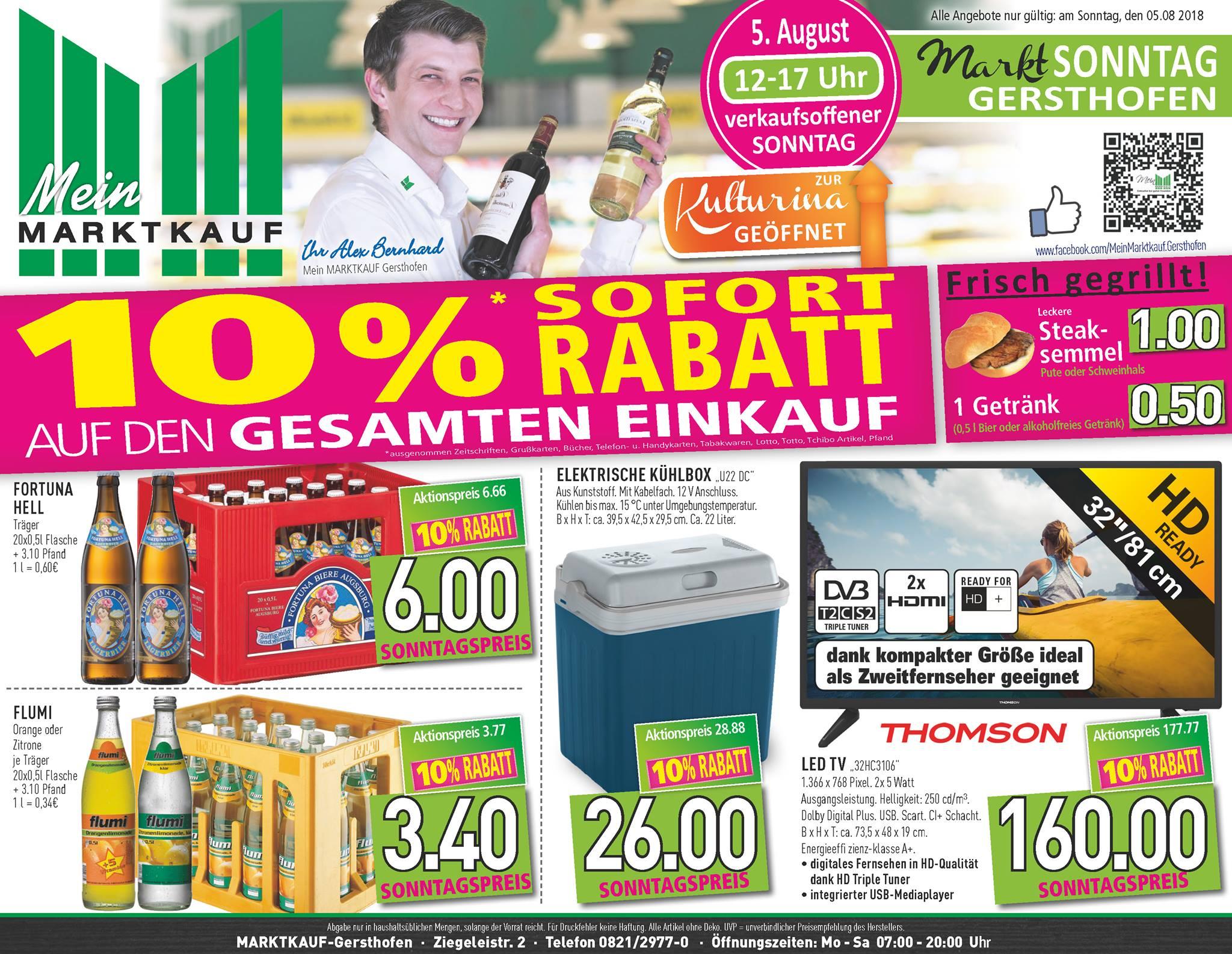 [lokal] Marktkauf Gersthofen 10% auf alles zum verkaufsoffenen Sonntag