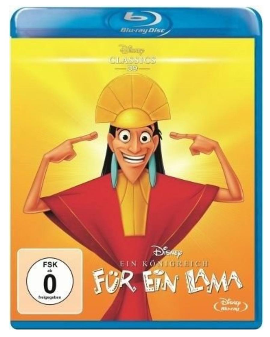 eBay Mediamarkt/Amazon Prime: Ein Königreich für ein Lama (Disney Classics) BluRay für 9,99€