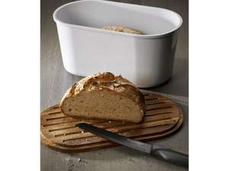 Echtwerk Brotbox ″Fresh″ mit Schneidebrett aus Akazienholz für 16,99€ (Media Markt)