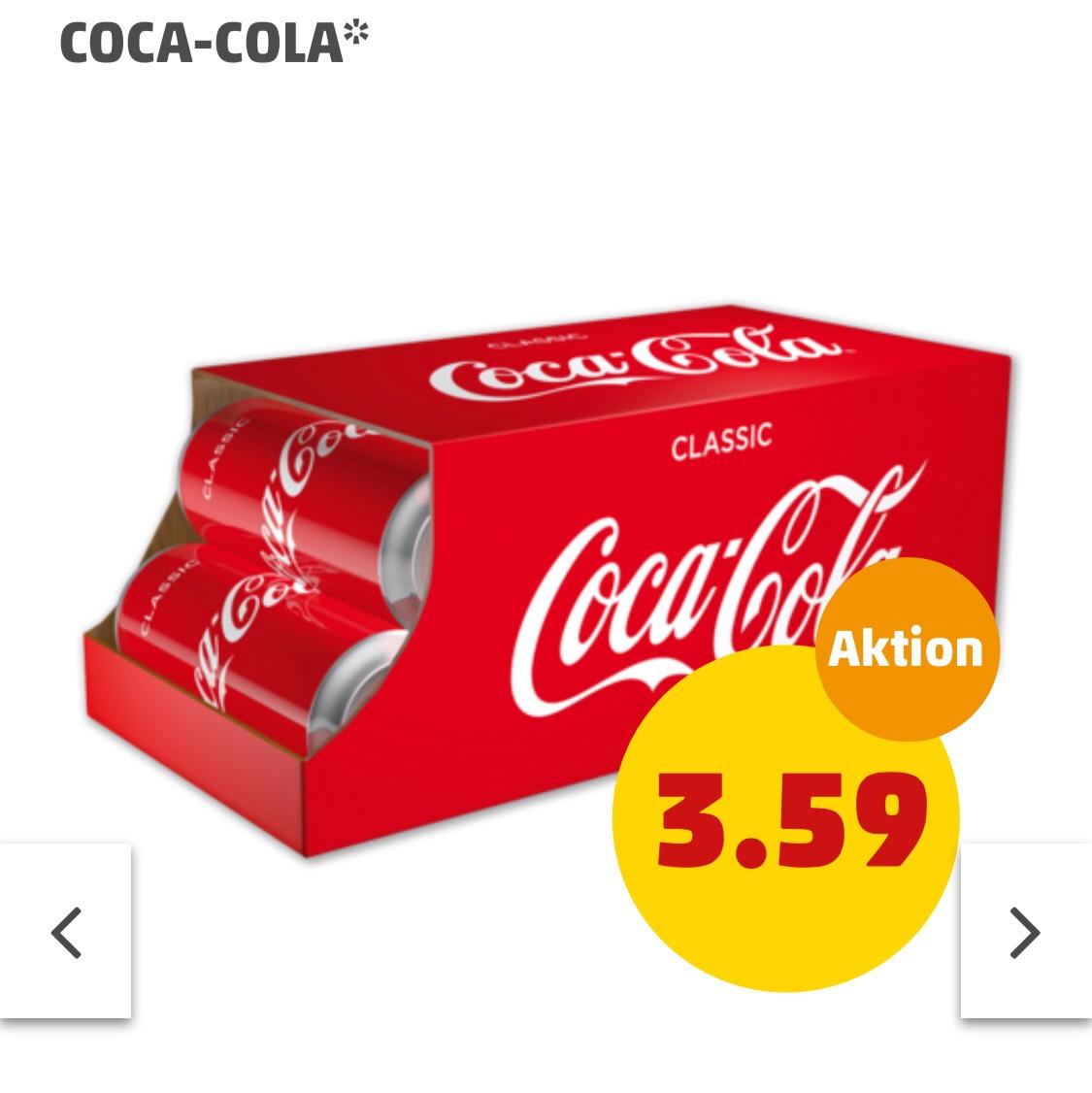 [Penny] Coca Cola 10x0,33 Dose für 3,59 + 2,50 Pfand - Literpreis 1.09