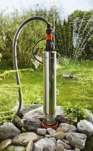 GARDENA Premium Tiefbrunnenpumpe 6000/5 inox | rostfreier Edelstahl mit 6000l/h Fördermenge | inkl. integriertem Thermoschutzschalter (1492-20)