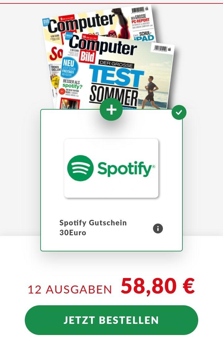 12x COMPUTER BILD LESEN & 30€ Spotify GUTSCHEIN