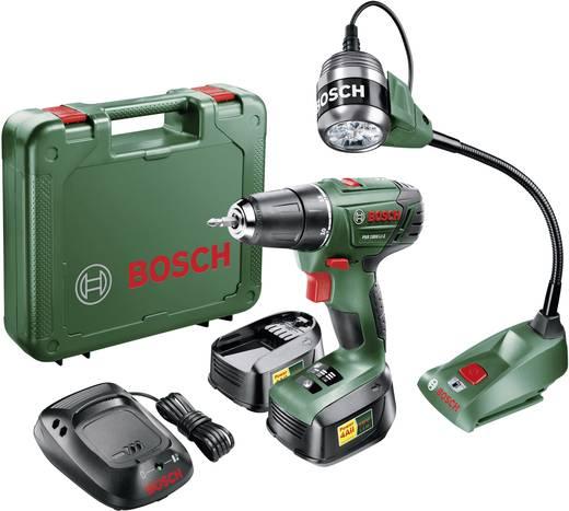 Bosch Akku-Bohrschrauber PSR1800Li-2 Set inkl. Arbeitsleuchte