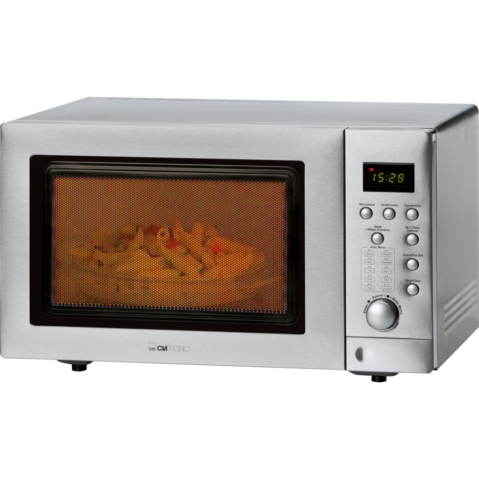 Clatronic MWG 779 H Mikrowelle mit Doppelgrill und Heißluft, inkl. Pizzastein mit Newsletter (Plus Online) für 119,99€