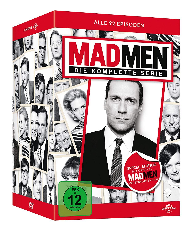 7 Tage Tiefpreise bei Amazon: z.B. Mad Men Gesamtbox (DVD) für 32,97€, Disneys zeitlose Meisterwerke (Blu-ray) für 44,97€, The King of Queens-HD Gesamtbox - Donut Edition für 49,97€