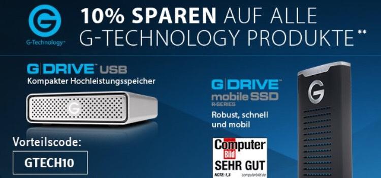 Conrad 10% Rabatt auf G-Tech Artikel
