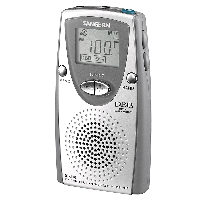 Sangean DT-210 Taschenradio mit Lautsprecher und Ohrhörer