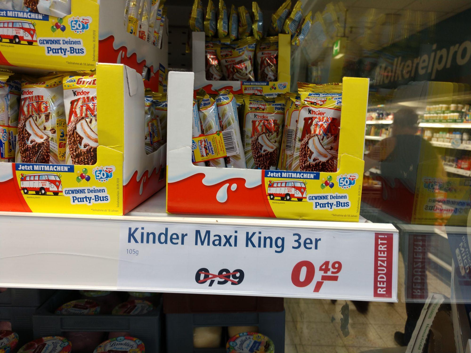 [Lokal Real Riesa] Kinder Maxi King 3er