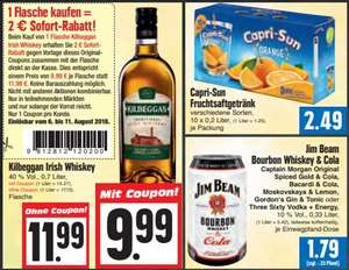 [EDEKA Hessenring] 3 Dosen Jim Beam & Cola für 3,87€ inkl. Coupon (1,29€ je Dose)