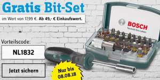 [Conrad] Gratis Bit-Set bei 49€ MBW