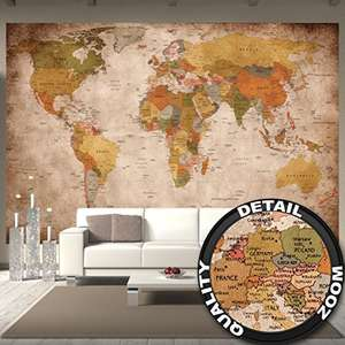 Fototapete Weltkarte 336 x 238 cm für