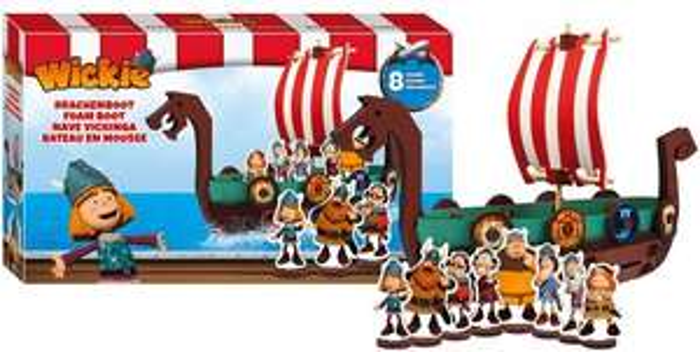 [top12.de] Wickie und die starken Männer Schaumstoffboot mit 8 Figuren [+ Schwimmartikel, da vskfrei ab 9,12€]