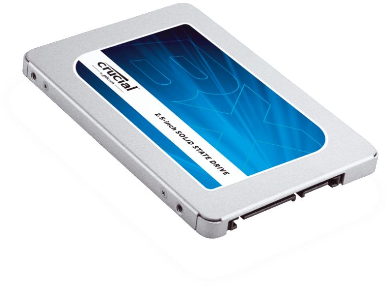 CRUCIAL BX300 SSD, 480 GB SSD, 2.5 Zoll, intern, Silber/blau