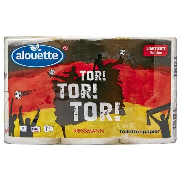 alouette Toilettenpapier mit Fußballmotiv für 0,90 @ Rossmann