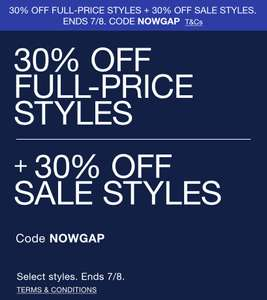 Great GAP Sale 70% Rabatt + 30% EXTRA Rabatt