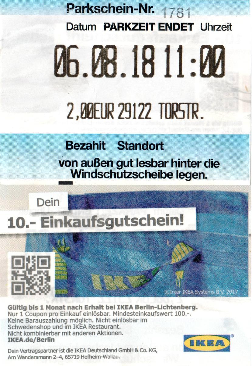 [BERLIN] 10€ Coupon für einen Einkauf ab 100€ [IKEA LICHTENBERG]