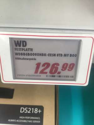 [Lokal Media Markt Köln Marsdorf] Western Digital WD My Book 8TB