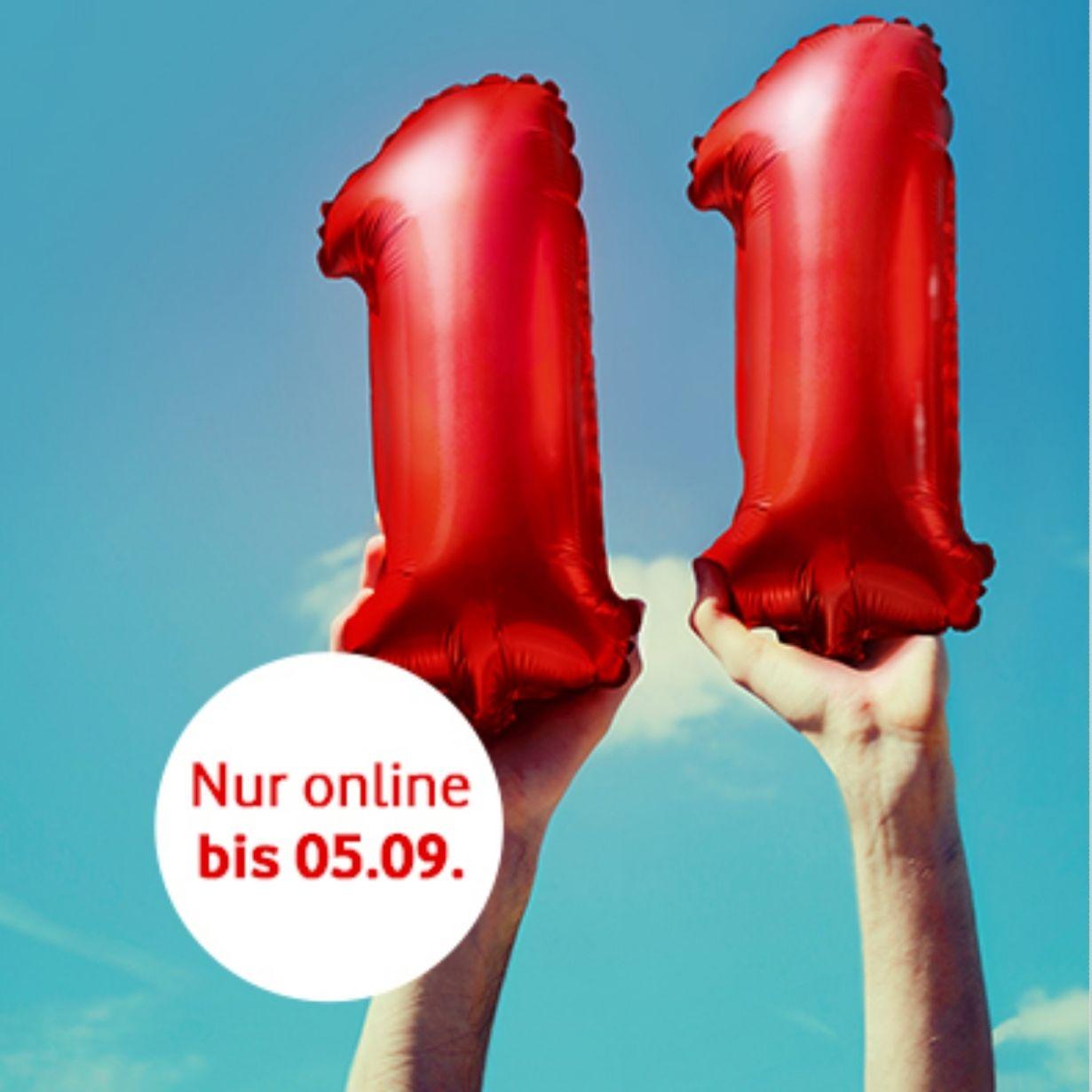 Vodafone CallYa Karte mit 11GB Datenvolumen on top bis zum 05.09.